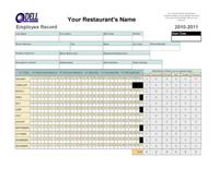 Employee Record Spreadsheet