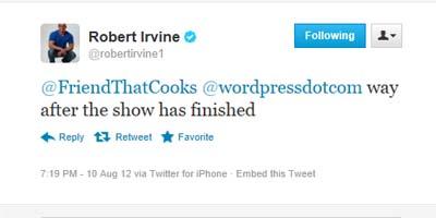 Robert Irvine tweet 3