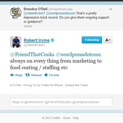 Robert Irvine tweet 4
