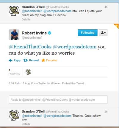 Robert Irvine tweet 5